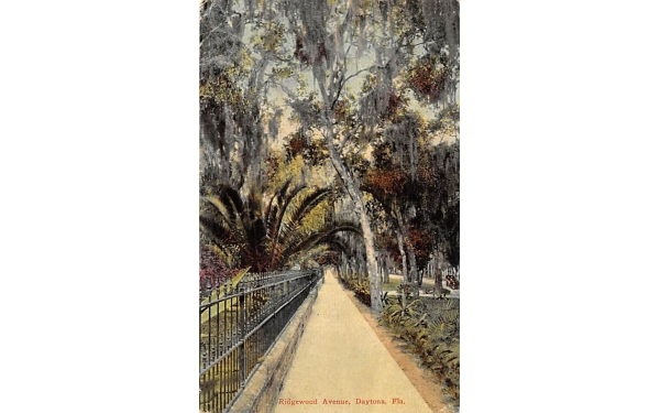 Ridgewood Avenue Daytona, Florida Postcard