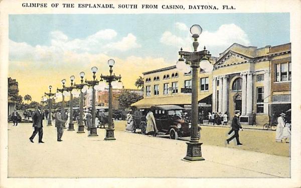 Glimpse of the Esplanade Daytona, Florida Postcard