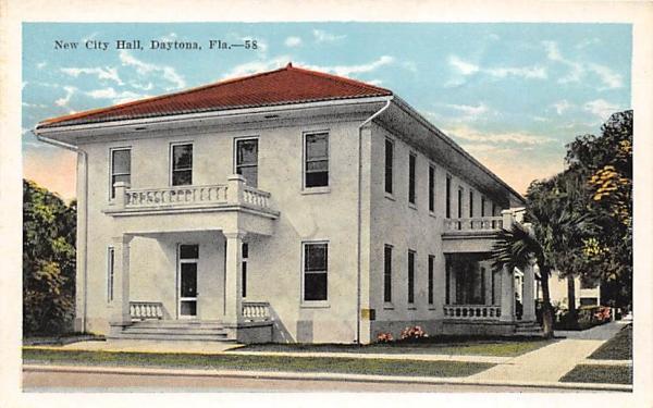 New City Hall Daytona, Florida Postcard