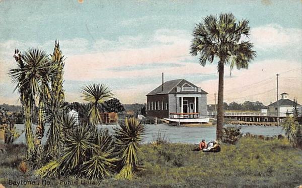 Public Library Daytona, Florida Postcard