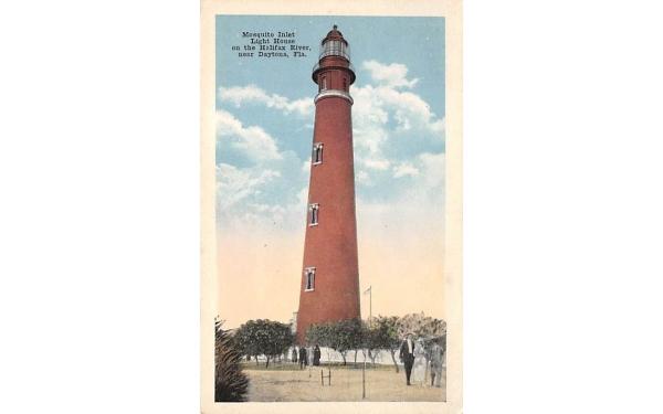 Near Daytona Mosquito Inlet Light House on the Halifax River Florida Postcard