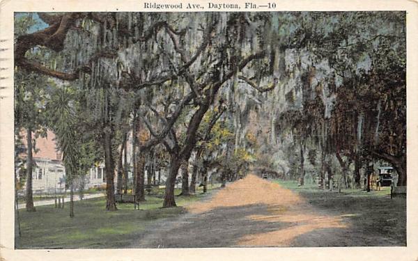 Ridgewood Ave. Daytona, Florida Postcard
