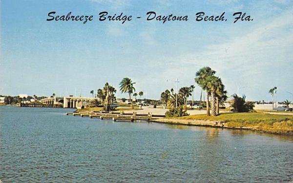 Seabreeze Bridge Daytona, Florida Postcard