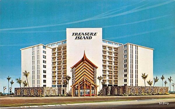 Treasure Island Beach Lodge Daytona Beach Shores, Florida Postcard