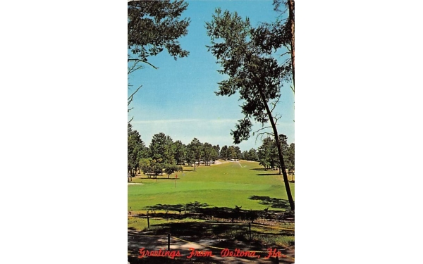 View from Club House  Deltona, Florida Postcard