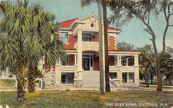 The Elks Home Daytona, Florida Postcard