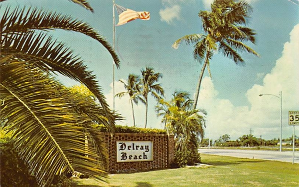 Delray Beach, FL, USA Florida Postcard