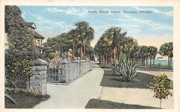 South Beach Street Daytona, Florida Postcard