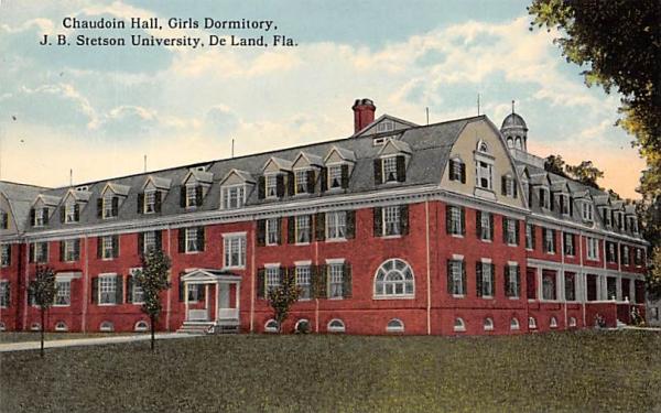 Chaudoin Hall, Girls Dormitory, J. B. Stetson University De Land, Florida Postcard