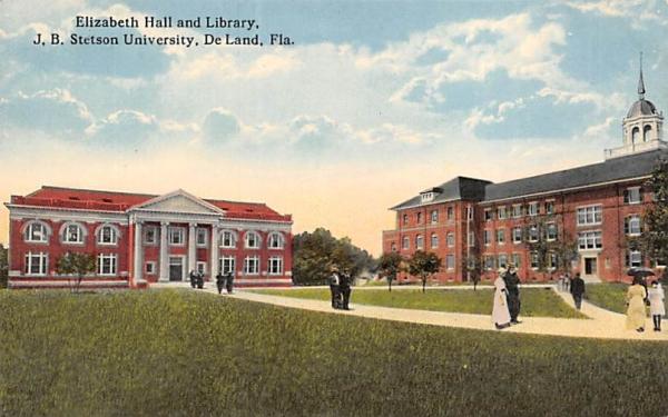 Elizabeth Hall and Library, J. B. Stetson University De Land, Florida Postcard