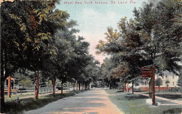West New York Avenue De Land, Florida Postcard