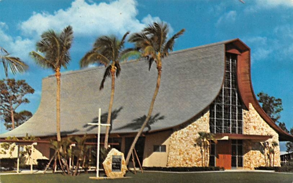 Congregational United Church of Christ Delray Beach, Florida Postcard
