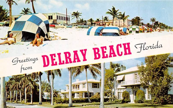 Greetings from Delray Beach, FL, USA Florida Postcard