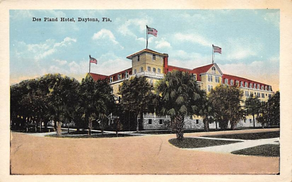 Des Pland Hotel Daytona, Florida Postcard