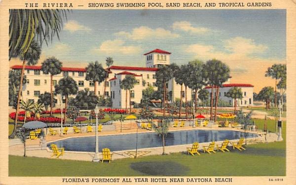 The Riviera Near Daytona Florida Postcard
