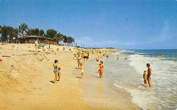 Along the Beach Delray Beach, Florida Postcard