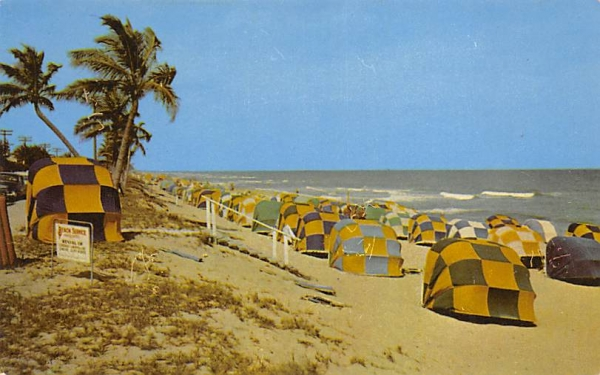 A Sunny Colorful Florida Beach Scene  Postcard
