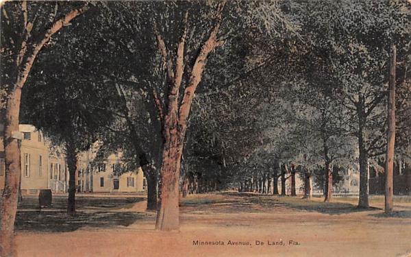 Minnesota Avenue De Land, Florida Postcard
