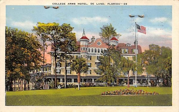 College Arms Hotel De Land, Florida Postcard