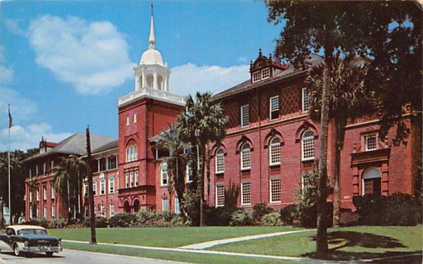 Beautiful Elizabeth Hall, John B. Stetson University De Land, Florida Postcard