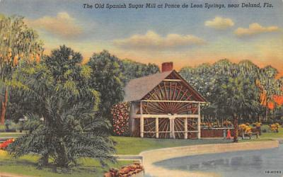 The Old Spanish Sugar Mill De Land, Florida Postcard