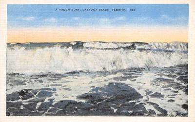 A Rough Surf Daytona Beach, Florida Postcard