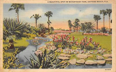 A Beautiful Spot in Waterfront Park Daytona Beach, Florida Postcard