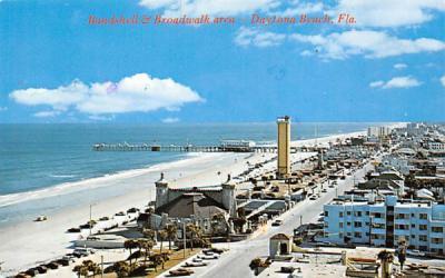 Bandshell & Boardwalk area Daytona Beach, Florida Postcard