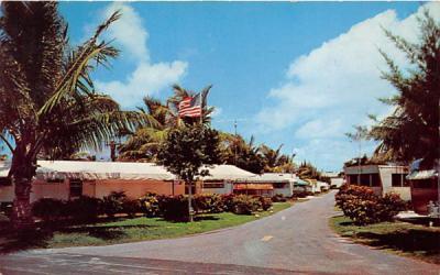 A Beautiful Homesite at Briny Breezes Trailer Park on AIA Delray Beach, Florida Postcard