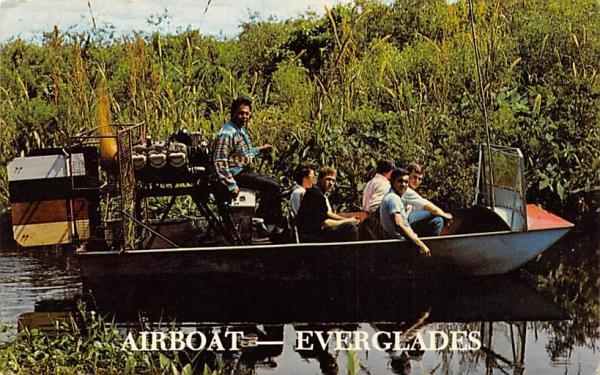 Airboat - Everglades Florida Postcard