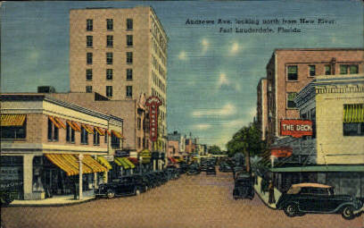 Andrews Avenue - Fort Lauderdale, Florida FL Postcard
