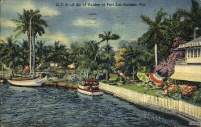 Bit of Venice - Fort Lauderdale, Florida FL Postcard