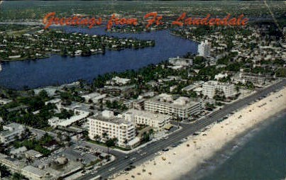 Greetings - Fort Lauderdale, Florida FL Postcard