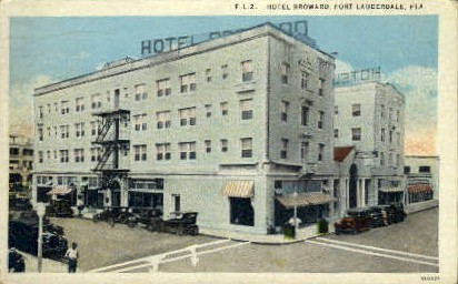 Broward Hotel - Fort Lauderdale, Florida FL Postcard