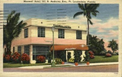 Maxwell Hotel - Fort Lauderdale, Florida FL Postcard