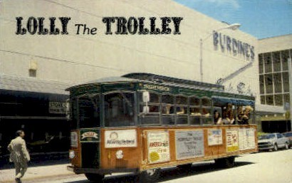 Lolly the Trolley - Fort Lauderdale, Florida FL Postcard