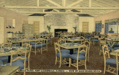 Terrace Patio - Fort Lauderdale, Florida FL Postcard