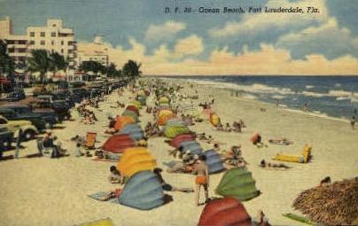 Ocean Beach - Fort Lauderdale, Florida FL Postcard