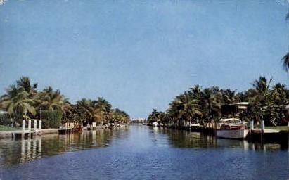 Venice of America - Fort Lauderdale, Florida FL Postcard