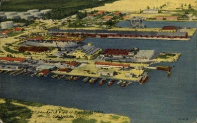 Port Everglades - Fort Lauderdale, Florida FL Postcard
