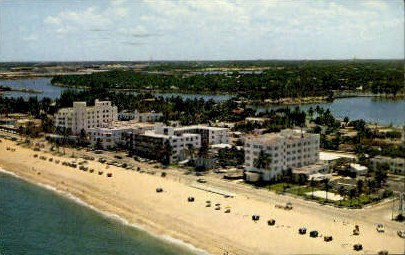 Golden Sands Apartments - Fort Lauderdale, Florida FL Postcard