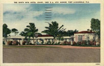 Santa Rita Hotel - Fort Lauderdale, Florida FL Postcard