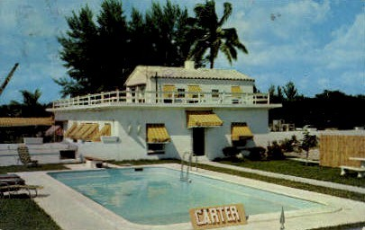 Casa Linda Apartments - Fort Lauderdale, Florida FL Postcard