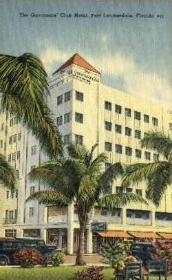 Governors' Club Hotel - Fort Lauderdale, Florida FL Postcard