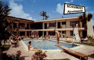 Schubert Apartments - Fort Lauderdale, Florida FL Postcard