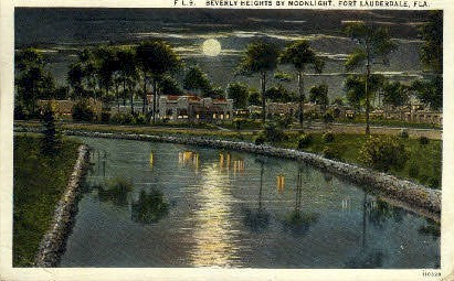 Beverly Heights - Fort Lauderdale, Florida FL Postcard