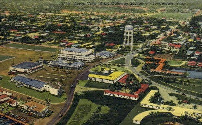 Gateway Section - Fort Lauderdale, Florida FL Postcard