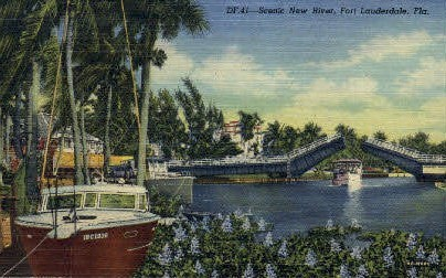 New River - Fort Lauderdale, Florida FL Postcard