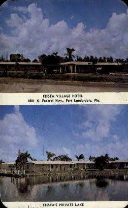 Fiesta Village Hotel - Fort Lauderdale, Florida FL Postcard