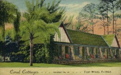 Coral Cottages - Fort Myers, Florida FL Postcard